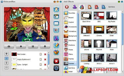 Zrzut ekranu WebcamMax na Windows XP