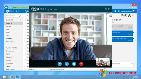 Zrzut ekranu Skype na Windows XP