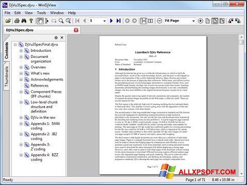 Zrzut ekranu WinDjView na Windows XP