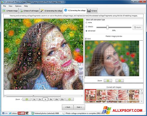 Zrzut ekranu Photo Collage na Windows XP