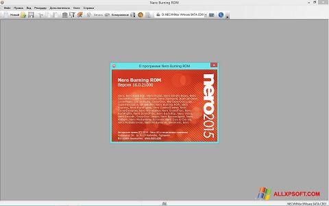 Zrzut ekranu Nero na Windows XP