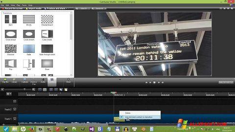 Zrzut ekranu Camtasia Studio na Windows XP