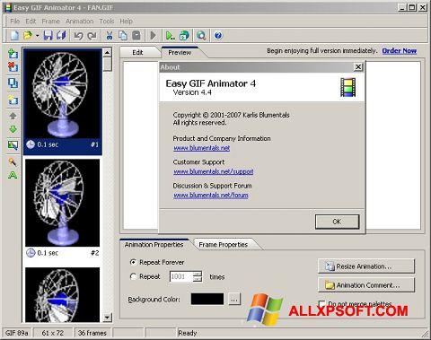 Zrzut ekranu Easy GIF Animator na Windows XP
