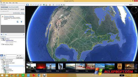 Zrzut ekranu Google Earth na Windows XP